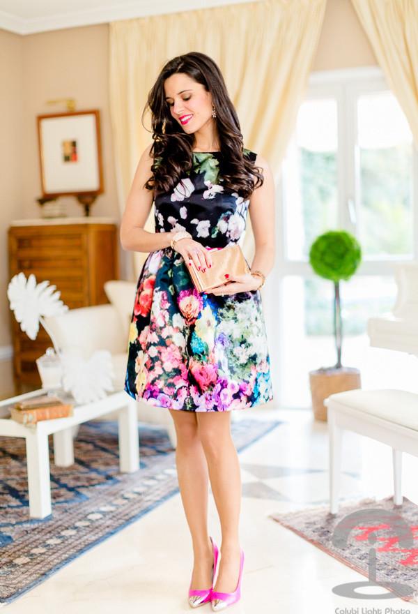 Street-Style-Dresses-Floral-Print-Dress-3