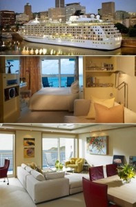 Kamar apartemen kapal pesiar The World