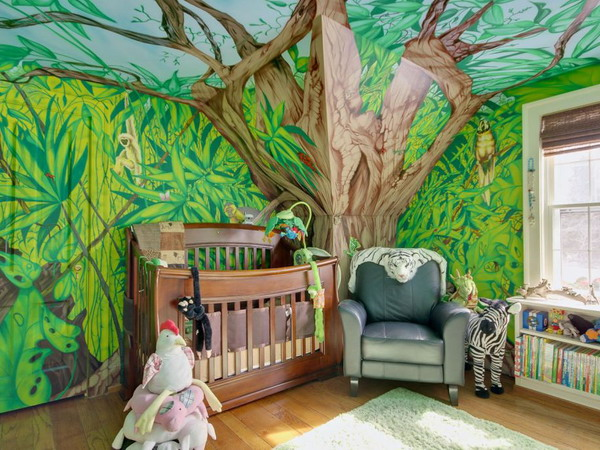 Kamar bertema hutan