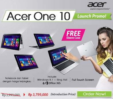 Harga Acer One 10